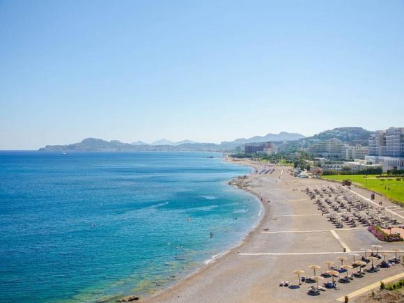 Родос, пляж Фалираки