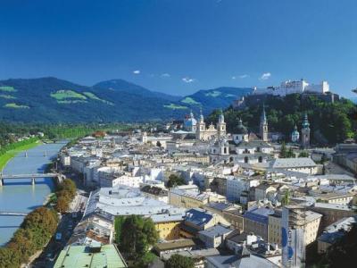Вид на Зальцбург, Австрия
